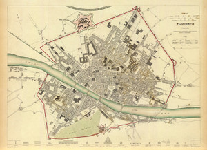Art Prints of Florence, 1835 (0890176), Great Britain Map