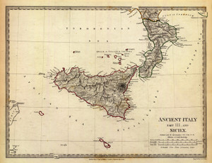 Art Prints of Ancient Italy III, 1830 (0890041), Great Britain Map