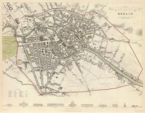 Art Prints of Berlin, 1833 (0890163), Great Britain Map