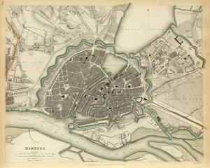 Art Prints of Hamburg, 1841 (0890180), Great Britain Map