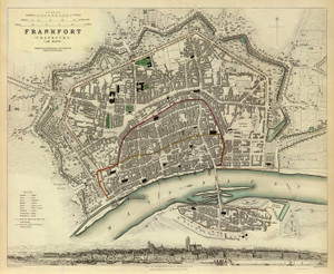 Art Prints of Frankfurt, 1837 (0890177), Great Britain Map