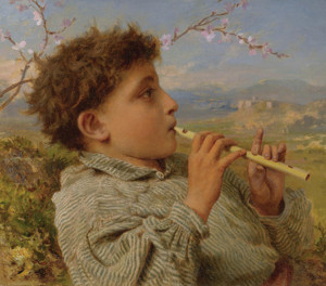 Art Prints of Shepherd's Pipes, Capri by Sophie Anderson