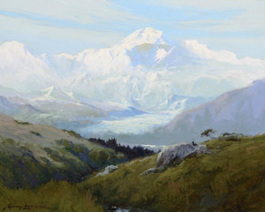 Art Prints of McKinley from Peter's Hills, 1928 by Sydney Laurence