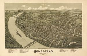 Art Prints of Homestead, Pennsylvania, 1902 by Thaddeus Mortimer Fowler