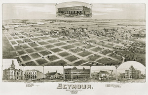 Art Prints of Seymour, Texas in 1890 by Thaddeus Mortimer Fowler
