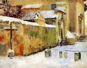 Art Prints of Church in Snow by Theodore Robinson