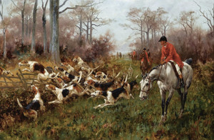 Art Prints of Putting Hounds into Cover by Thomas Blinks