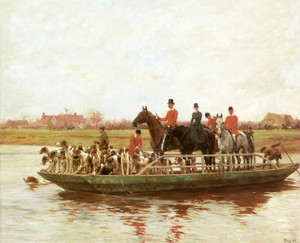 Art Prints of The York and Ainsty Hounds on the Ferry by Thomas Blinks