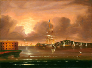 Art Prints of Threatening Sky, Bay of New York by Thomas Chambers