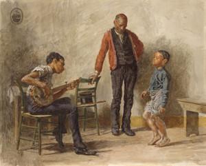Art Prints of Dance Lesson by Thomas Eakins