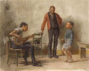 Art Prints of Dance Lesson by Thomas Eakins