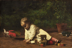 Art Prints of Baby at Play by Thomas Eakins