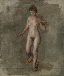 Art Prints of The Model by Thomas Eakins