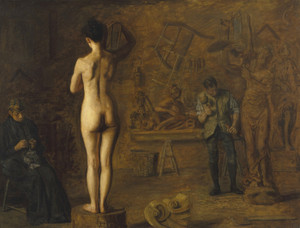 Art Prints of William Rush Carving His Allegorical Figure by Thomas Eakins