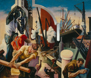 City Building by Thomas Hart Benton | Fine Art Print