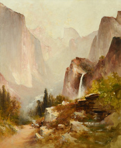 Art Prints of Bridal Veil Falls, Yosemite by Thomas Hill