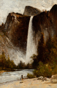 Art Prints of At the Foot of Bridal Veil by Thomas Hill