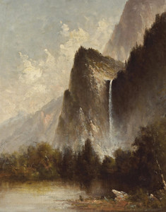 Art Prints of Bridal Veil Falls by Thomas Hill