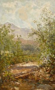 Art Prints of Mount Tamalpais Through the Trees by Thomas Hill