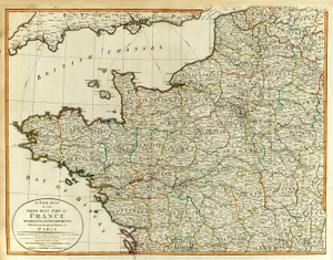 Art Prints of Northwest France (2310026) by Jefferys, Kitchin, Laurie and Whittle