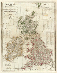 Art Prints of A Complete map of the British Isles, 1788 (0411007) by Thomas Kitchin