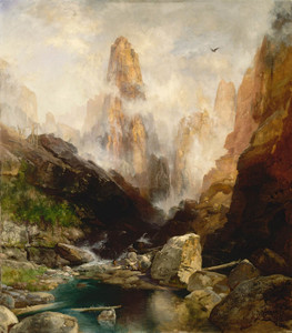 Art Prints of Mist in Kanab Canyon by Thomas Moran