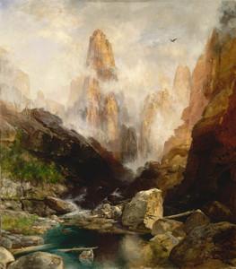 Art Prints of Mist in Kanab Canyon by Thomas Moran