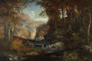 Art Prints of A Scene on the Tohickon Creek, Autumn by Thomas Moran