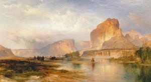 Art Prints of Cliffs of Green River by Thomas Moran