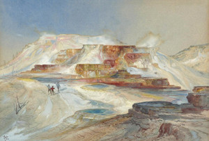 Art Prints of Hot Spring of Gardiner's River, Yellowstone by Thomas Moran