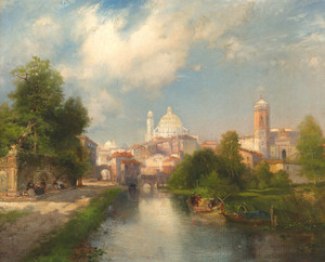 Art Prints of The City of Mexico by Thomas Moran