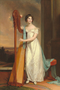 Art Prints of Eliza Ridgely with a Harp by Thomas Sully
