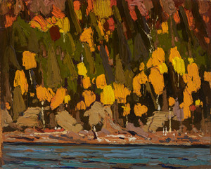 Art Prints of Birches and Cedars by Tom Thomson