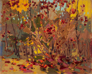 Art Prints of Sketch for Maple Saplings, October by Tom Thomson