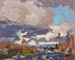 Art Prints of Tea Lake Dam by Tom Thomson