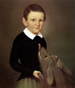 Art Prints of Boy with a Dog by an Unknown Artist