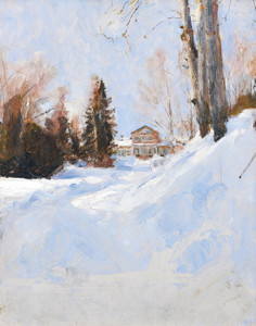 Art Prints of Winter in Abramtsevo by Valentin Serov