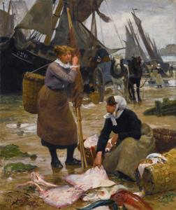 Art Prints of The Arrival of the Fishing Boats by Victor Gabriel Gilbert