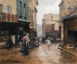 Art Prints of Rue de la Montagne, Genevieve Paris by Victor Gabriel Gilbert