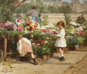 Art Prints of The Young Flower Seller by Victor Gabriel Gilbert