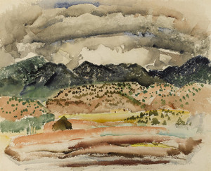 Art Prints of Clouds over Foothills, Taos by Victor Higgins
