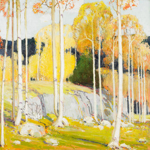 Art Prints of Aspen Forest by Victor Higgins
