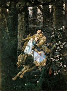 Art Prints of Ivan Zarevitch on the Grey Wolf by Viktor Vasnetsov