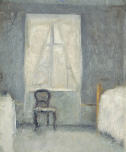 Art Prints of Interior with Chair by Vilhelm Hammershoi
