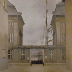 Art Prints of Old Asiatic Company by Vilhelm Hammershoi