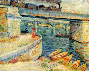 Art Prints of Bridges Across the Seine at Asnieres by Vincent Van Gogh