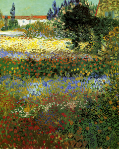 Art Prints of Garden with Flowers, No. 2, 1888 by Vincent Van Gogh