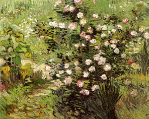 Art Prints of Flowering Rosebushes by Vincent Van Gogh