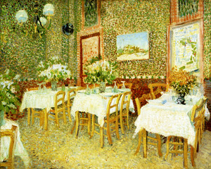 Art Prints of Interior of a Restaurant, 1887 by Vincent Van Gogh