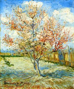 Art Prints of Pink Peach Tree in Blossom by Vincent Van Gogh